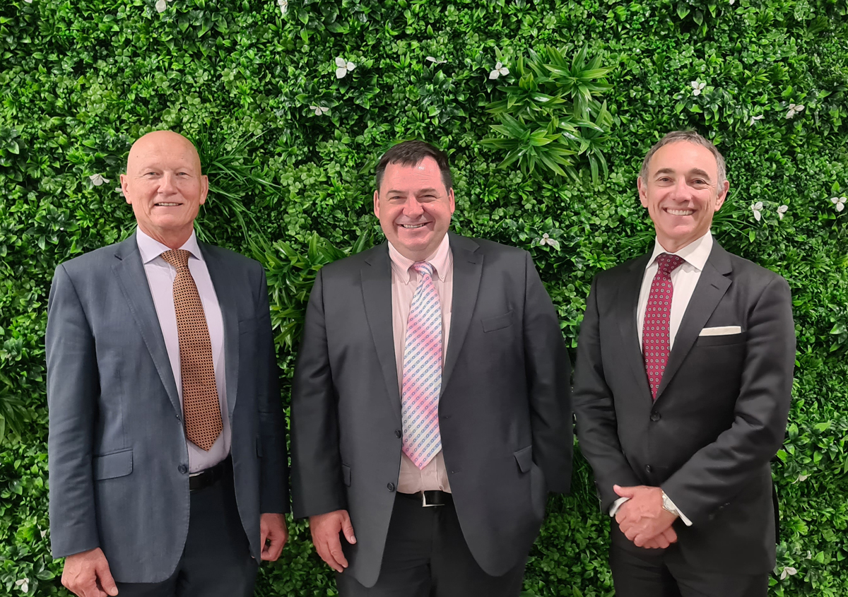 Andrew Balmaks (Noetic CEO), Stephen Kowal (FTS Group, CEO) and Peter Murphy (Noetic, Managing Director)